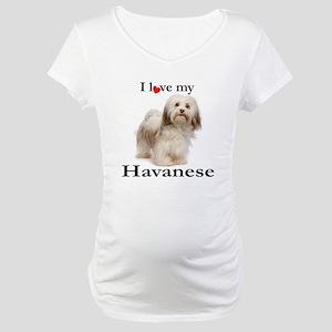 Love My Havanese Maternity T-Shirt