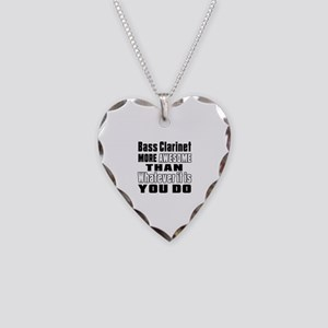 Bass Clarinet More Awesome Necklace Heart Charm