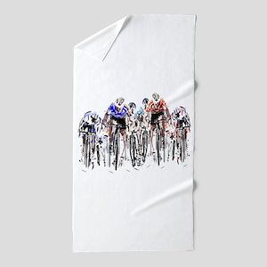 Cyclists Beach Towel