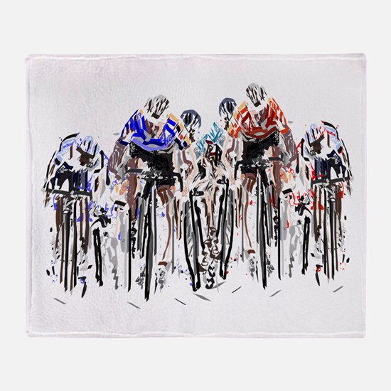 Cyclists Throw Blanket