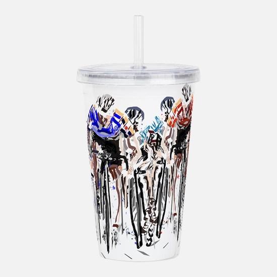 Cyclists Acrylic Double-wall Tumbler