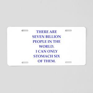 people Aluminum License Plate