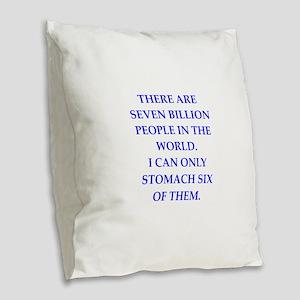 people Burlap Throw Pillow