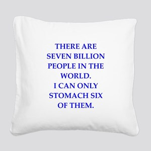 people Square Canvas Pillow