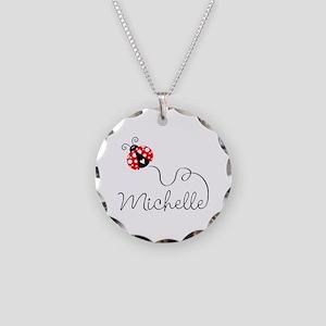 Ladybug Michelle Necklace Circle Charm