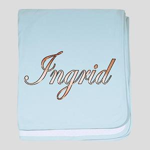 Gold Ingrid baby blanket
