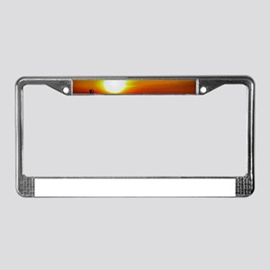 Holland Beach Sunset, Michigan License Plate Frame