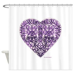 Purple Celtic Shower Curtains
