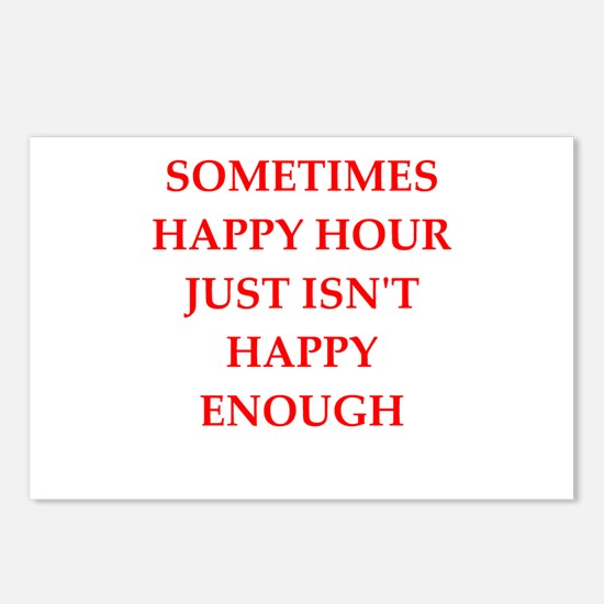 happy hour Postcards (Package of 8)