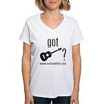 Got Guitar (blk) Women's V-Neck T-Shirt