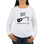 Got Guitar (blk) Women's Long Sleeve T-Shirt