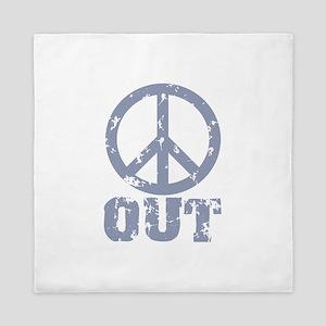 Peace Out Queen Duvet