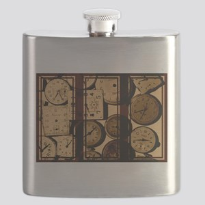 triptych vintage watch faces Flask