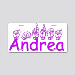Andrea in ASL Aluminum License Plate