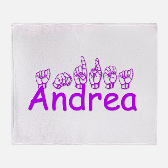 Andrea in ASL Throw Blanket