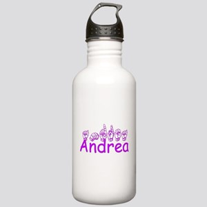 Andrea in ASL Water Bottle