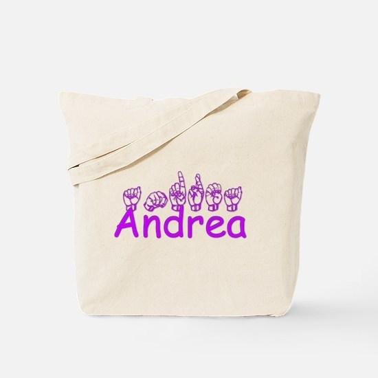Andrea in ASL Tote Bag