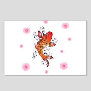Koi Fish Sealife Postcards (Package of 8)