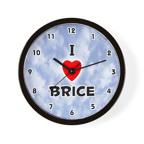 I Love Brice (Black) Valentine Wall Clock