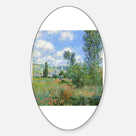 Cute Poppies france Sticker (Oval)
