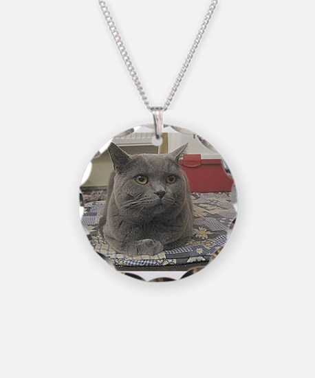 british shorthair gray Necklace