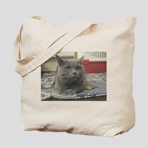 british shorthair gray Tote Bag