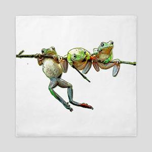 Hang in There Froggies Queen Duvet