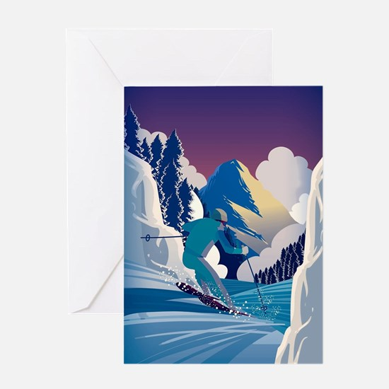 Unique Ski Greeting Card