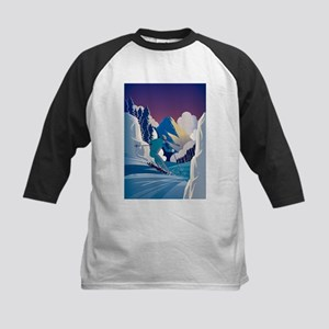 Graphic Skiing Down the Mountain Baseball Jersey
