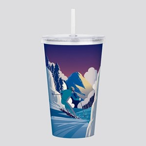 Graphic Skiing Down th Acrylic Double-wall Tumbler