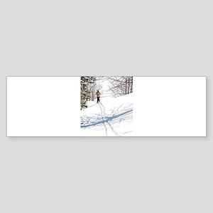 Lone Cross Country Skier Bumper Sticker