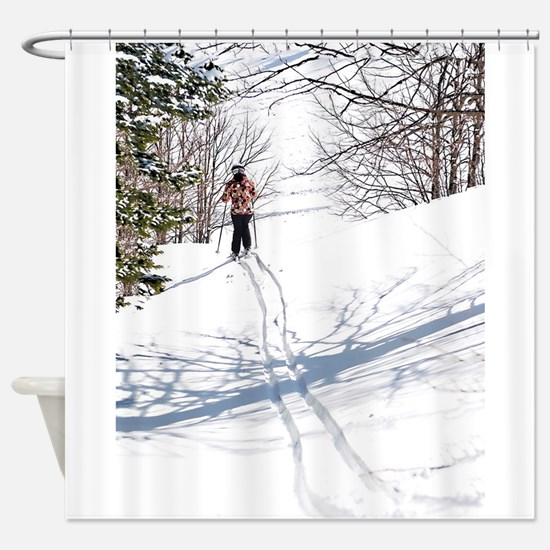Lone Cross Country Skier Shower Curtain