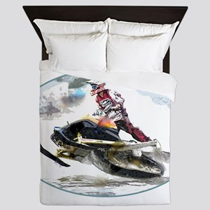 Snowmobile Competition Queen Duvet