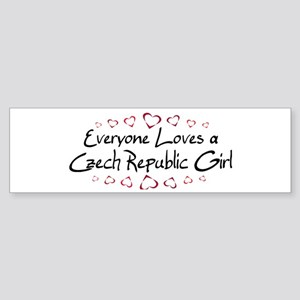Czech Republic Girl Bumper Sticker