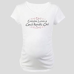 Czech Republic Girl Maternity T-Shirt