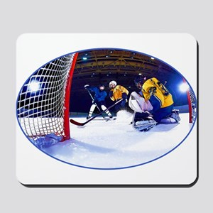 Ice Hockey Battle Through the Cage Mousepad