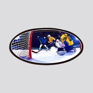 Ice Hockey Battle Through the Cage Patch