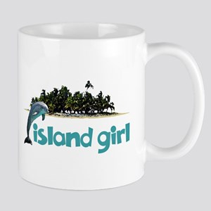 Island Girl With Dolphin Mugs