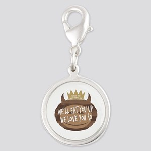 WTWTA Eat You Up Silver Round Charm