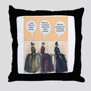 Victorian Baby Bumps - Funny Throw Pillow