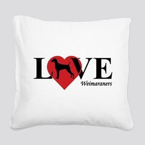 WEIMARANER Square Canvas Pillow