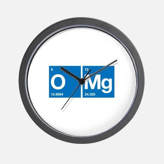 Oxygen Magnesium Periodic Table OMG Wall Clock