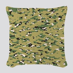 Camouflage: Woodland IV (NWU I Woven Throw Pillow