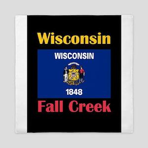 Fall Creek Wisconsin Queen Duvet