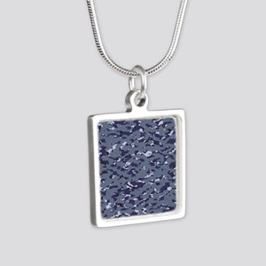 Camouflage: Naval (NWU I C Silver Square Necklace