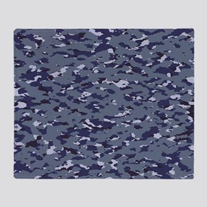 Camouflage: Naval (NWU I Colors) Throw Blanket