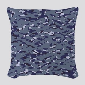 Camouflage: Naval (NWU I Color Woven Throw Pillow
