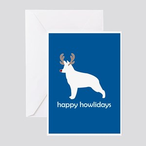 "G Shepherd ""Happy Howlidays"" Greeting Cards (Packa"