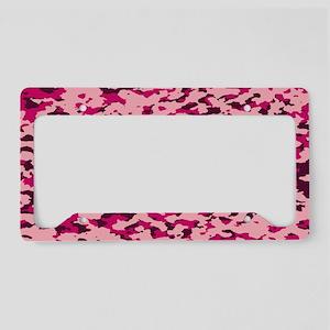 Camouflage: Pink I License Plate Holder