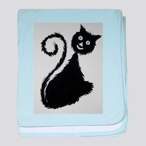 The Happy Cat baby blanket